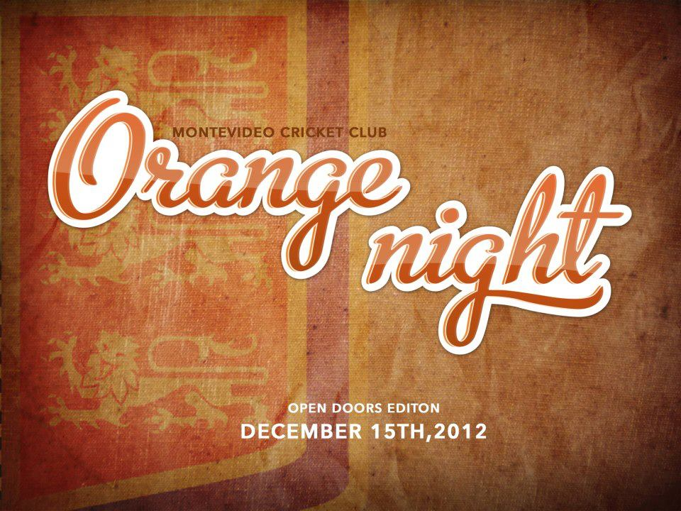 ¡Se viene la Orange Night!